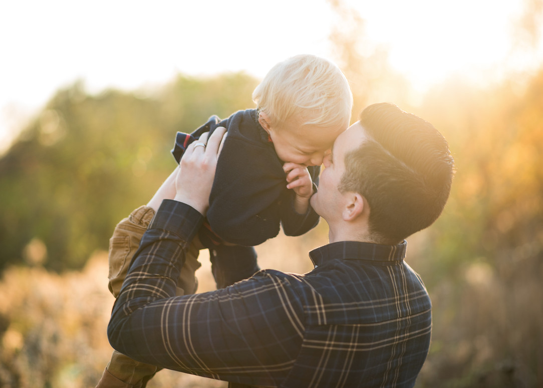 dad and baby portraiture