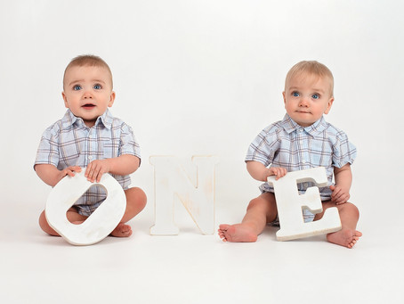 Twins Cake Smash Photo Shoot, Indianapolis Indiana