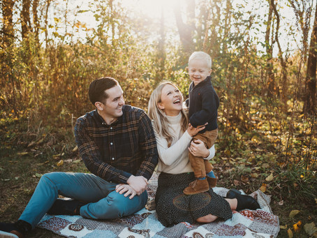 Holiday Fall Family Session, Carmel Indiana