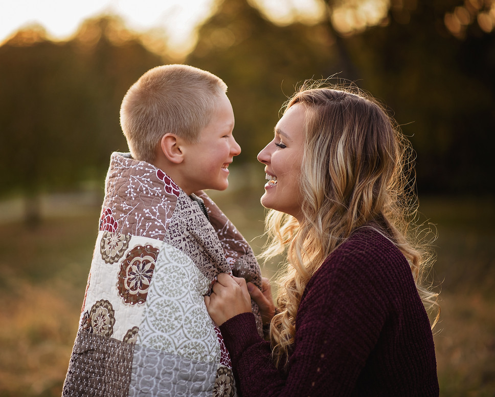 mother son fall photography session indi