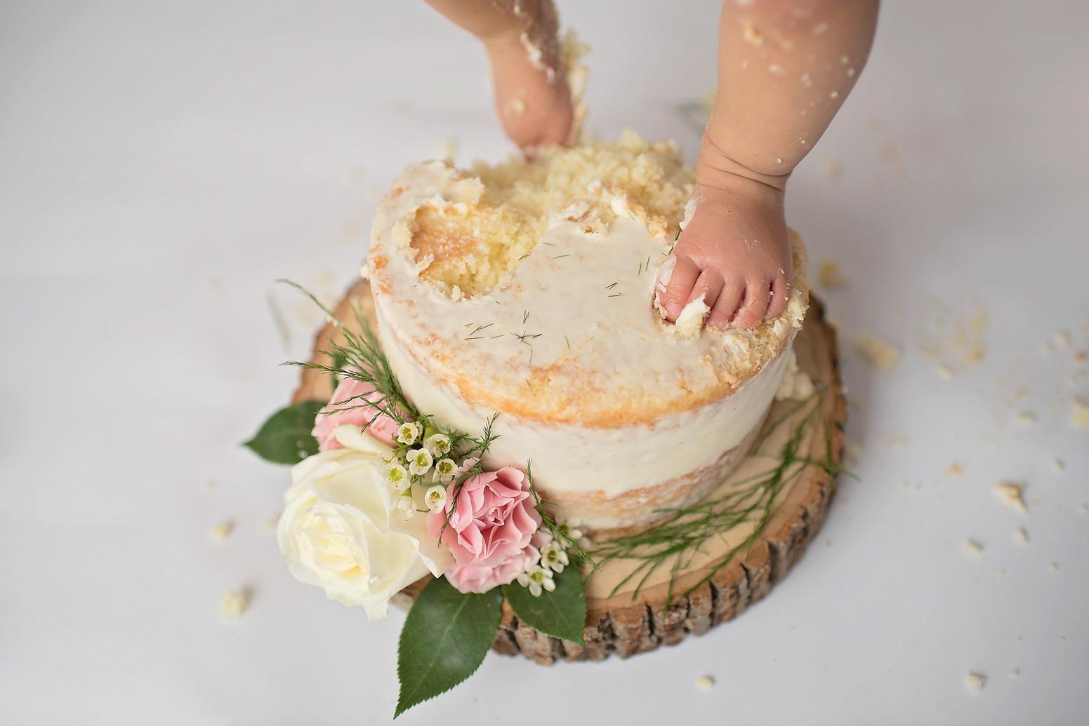 Cake Smash Simple Set up for girl Tatian