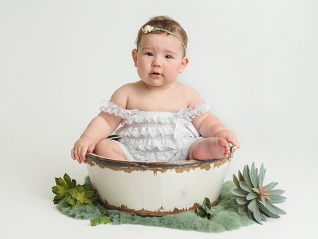 """Boho/Fresh/Greenery Theme"" Cake Smash Session to celebrate your baby's first birthday; Indianapolis"