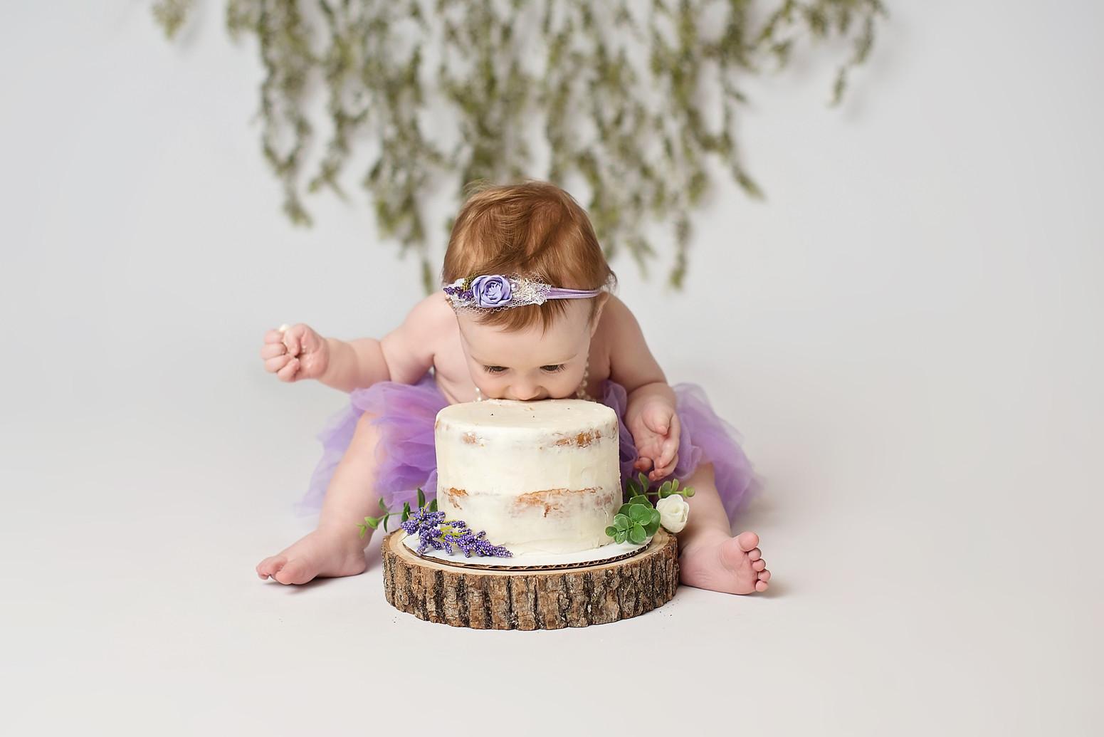 first birthday celebration family photo shoot