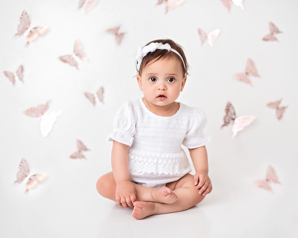 baby birthday portrait indianapolis phot