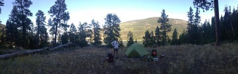 Camp above lake Koocanusa