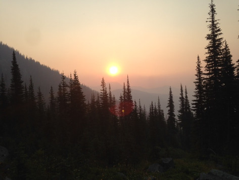 Wildfire-tinged sunset