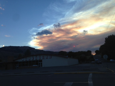 Wildfire sunset in Oroville