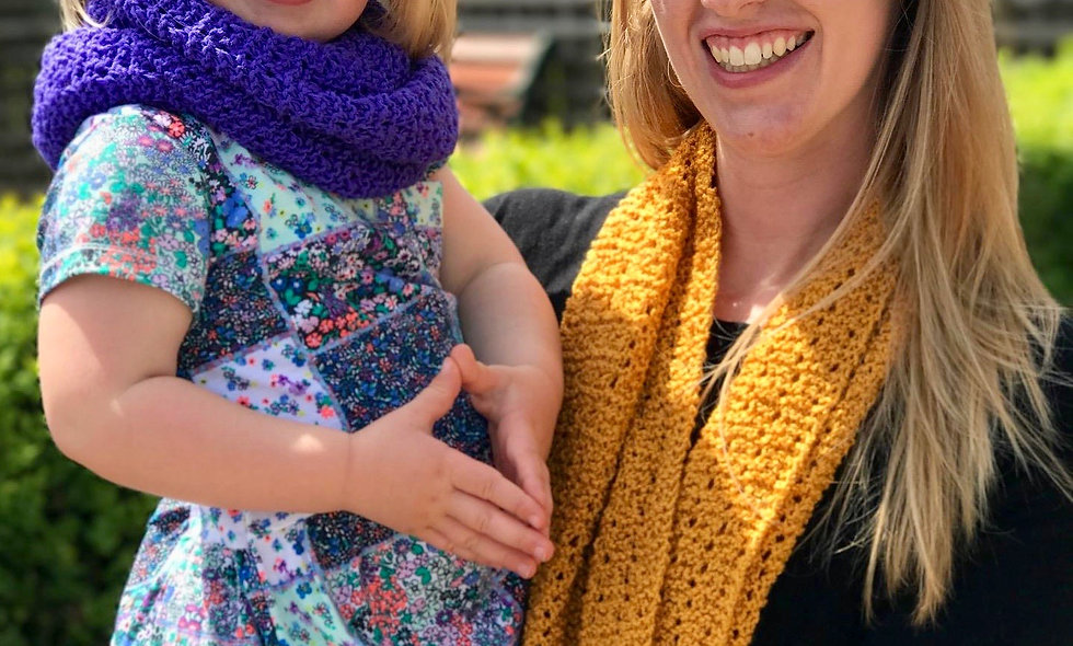 Mother and Daughter Lace Cowl/Snood/Infinity Scarf Knitting Pattern