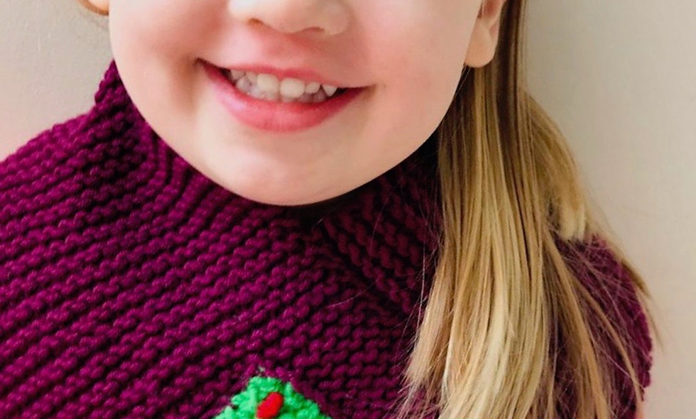 Christmas Tree Triangular Scarf Knitting Pattern