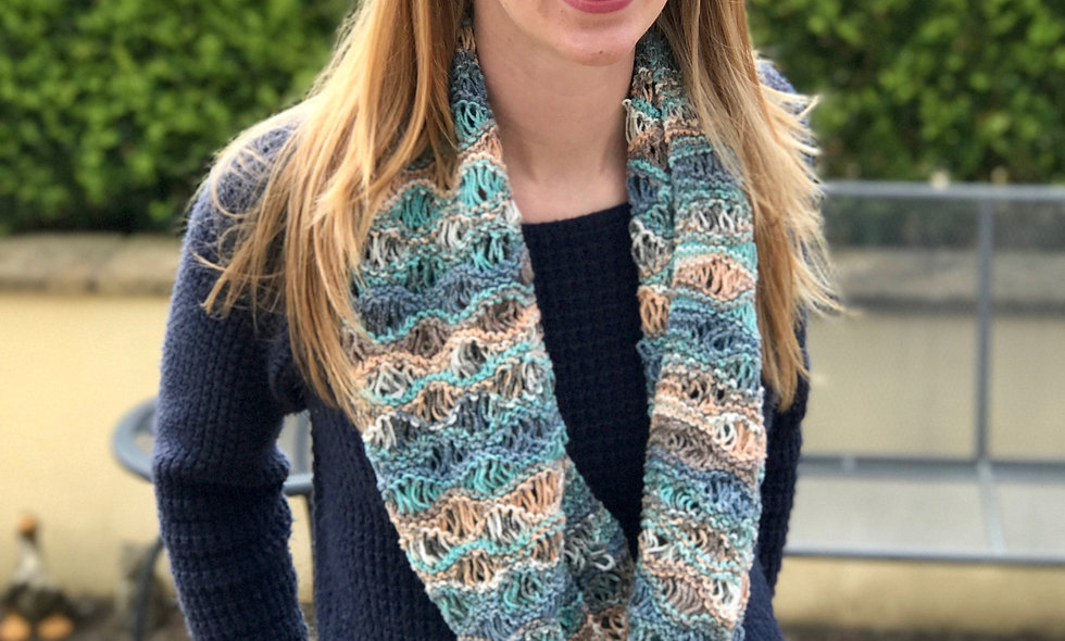 Aphroditia Lace Infinity Scarf Knitting Pattern