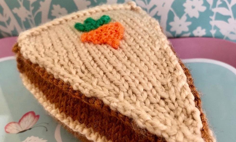 Carrot Cake Slice Knitting Pattern