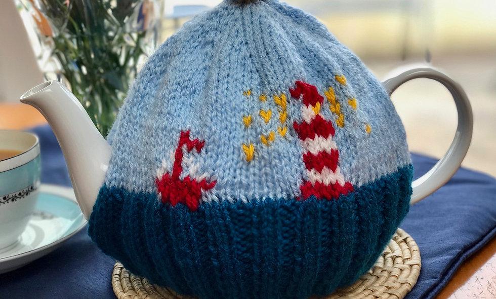 Lighthouse Tea Cosy Knitting Pattern