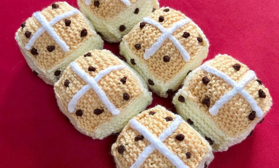 Hot Cross Buns Knitting Pattern