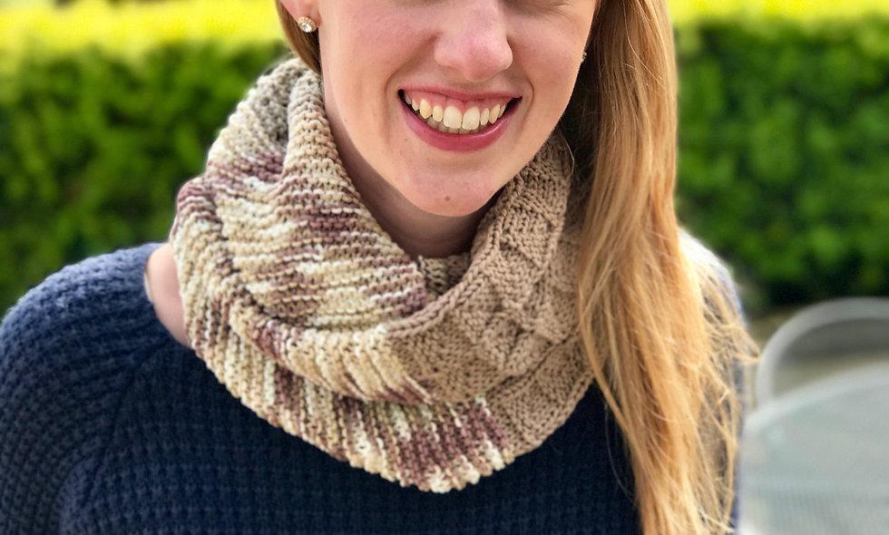 Cotton Eye Jo Infinity Scarf Knitting Pattern