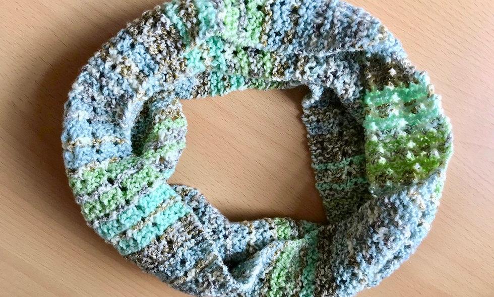 Ava Lace Infinity Scarf Knitting Pattern