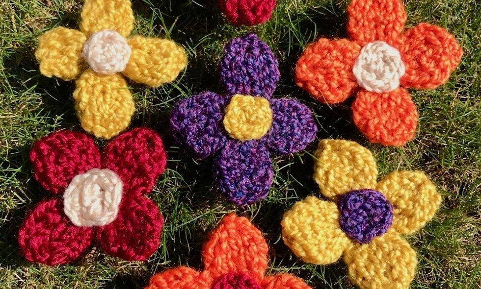 A 4 Petal Flower Knitting Pattern