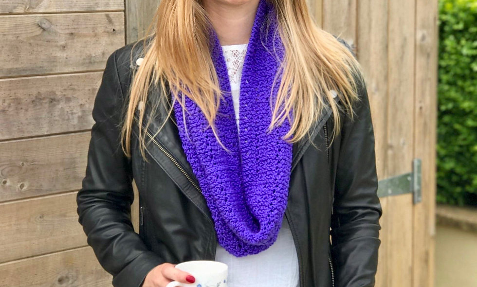 Madeleina Lace Cowl / Infinity Scarf Knitting Pattern