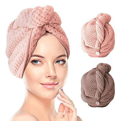 Fast Drying Shower Microfiber Hair Turban Towel