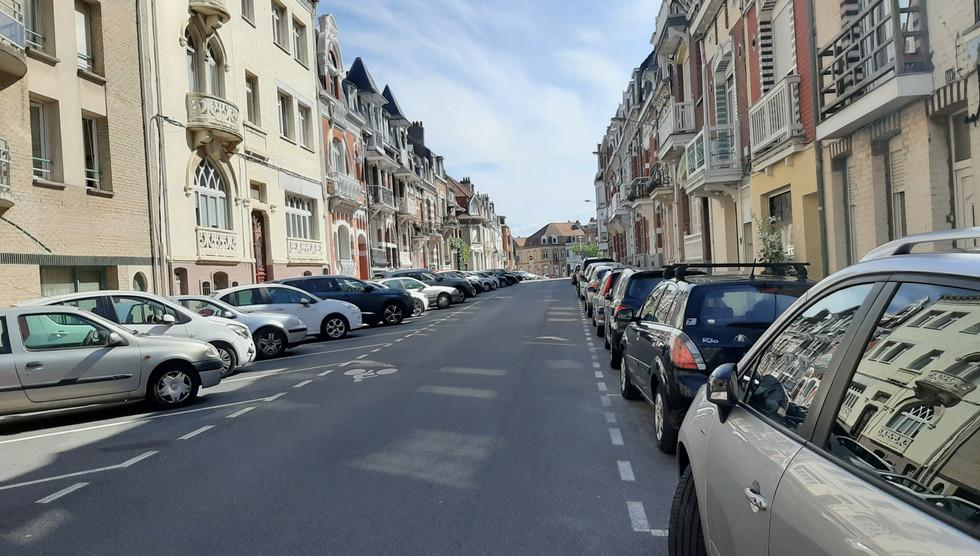 Devant la maison , autre côté de la rue : les belles et grandes malouines! magnifiques!