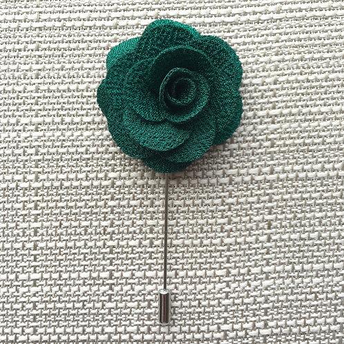 Flower Lapel Kelly Green