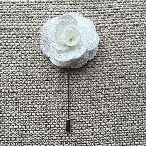 Flower Lapel White