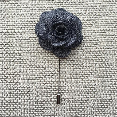 Flower Lapel Charcoal