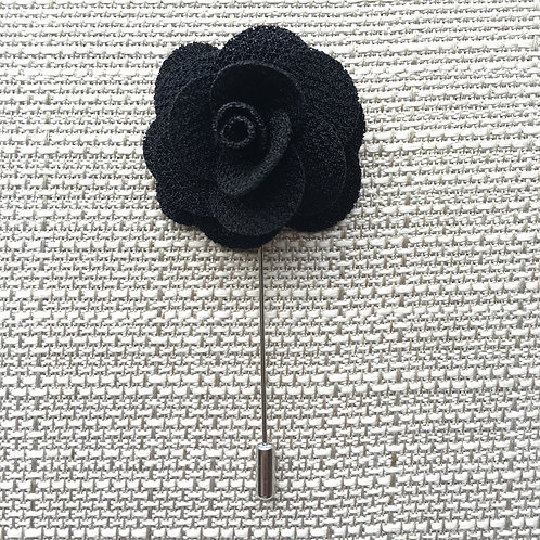 Flower Lapel Black