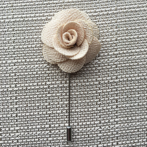 Flower Lapel Bisque