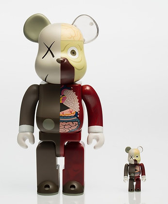 KAWS X BE@RBRICK. Dissected Companion 400% and 100% (two works)