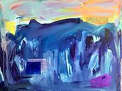 YuanZihan Blue 2019 Acrylic on Canvas 42