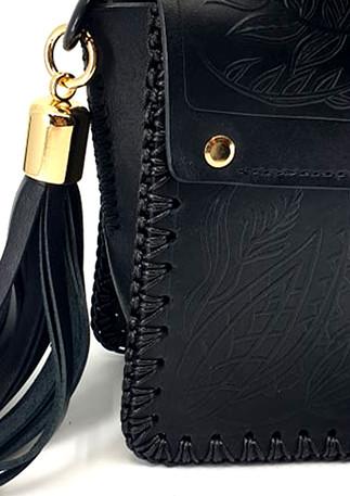 Linoza big black bag