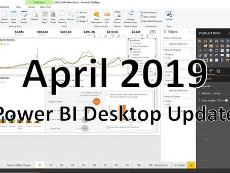 April 2019 Power BI Desktop Release