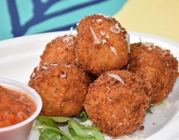 Chicken Parmesan Arancini