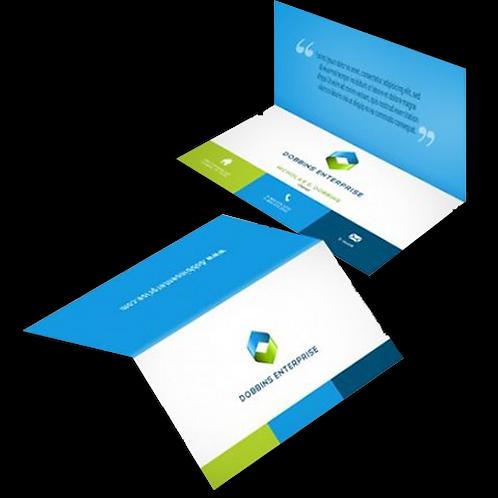 Foldover Business Card