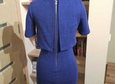 I finally made a dress with exposed zipper (+ Burda pattern review)