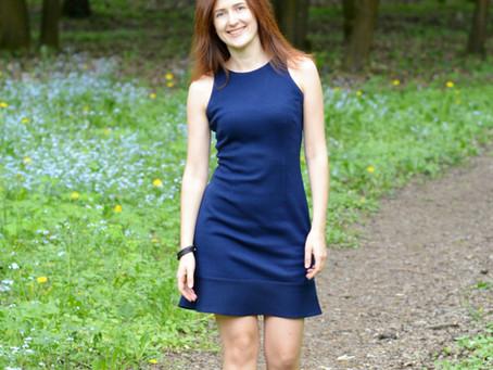 DID IT MYSELF. Navy Blue Dress