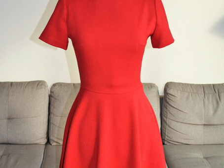 DID IT MYSELF: Red Ladylike Dress