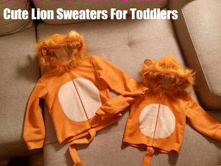 DID IT MYSELF! Cute Lion Sweaters For Toddlers