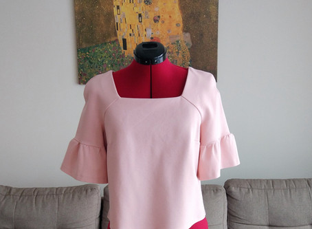 """The """"I am waiting for spring"""" blouse (+ Burda pattern review)"""