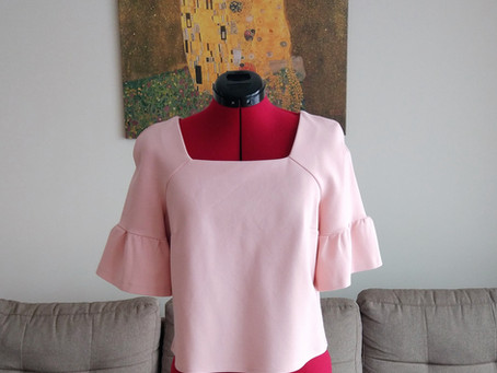 "The ""I am waiting for spring"" blouse (+ Burda pattern review)"