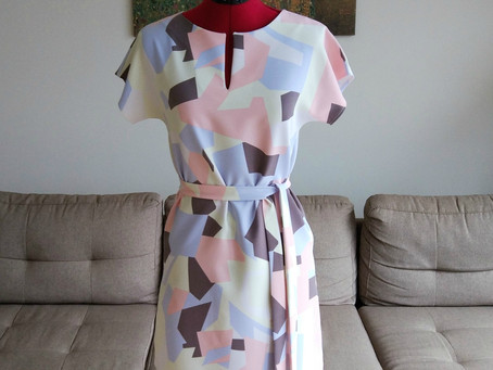 HOW TO SEW: self-drafted dress with belt