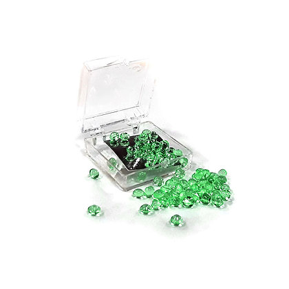O'Crème Edible Emerald Diamond Studs 4mm (65 Pieces)