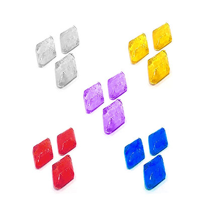 O'Crème Edible Small Diamond/Rhombus Jewels Clear