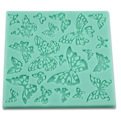 O'Creme Silicone Fondant Mold, Butterflies