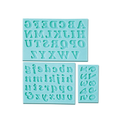 O'Creme Silicone Fondant Mold Set, Alphabet and Numbers