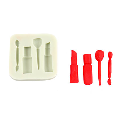 O'Creme Silicone Small Makeup and Brush Mold
