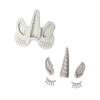 O'creme Unicorn Ears, Horn & Lashes Mold