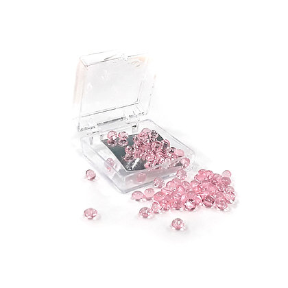 O'Crème Edible Cherry-Pink Diamond Studs 4mm (65 Pieces)
