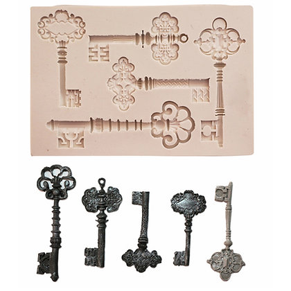 O'Creme Silicone Fondant Mold, Skeleton Keys