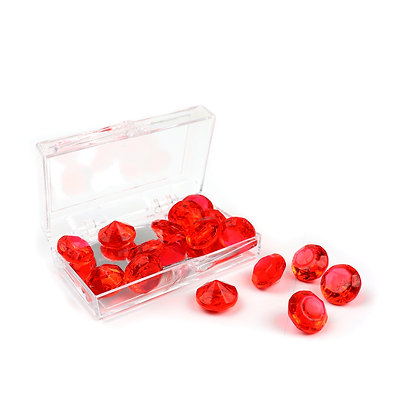 O'Crème Edible Red Diamond Jewels 10mm (16 Pieces)